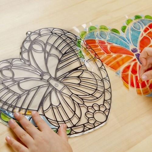 Witraż Mozaika DIY Motyl -...