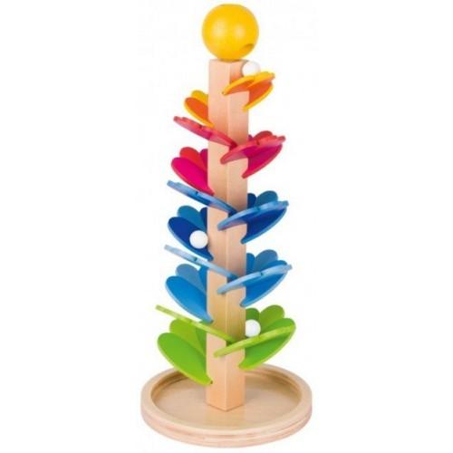Drewniana wieża dla kulek,...