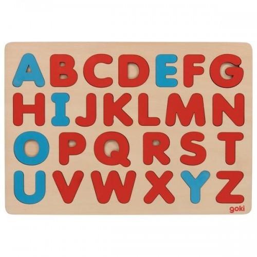 Układanka Alfabet drewniany...
