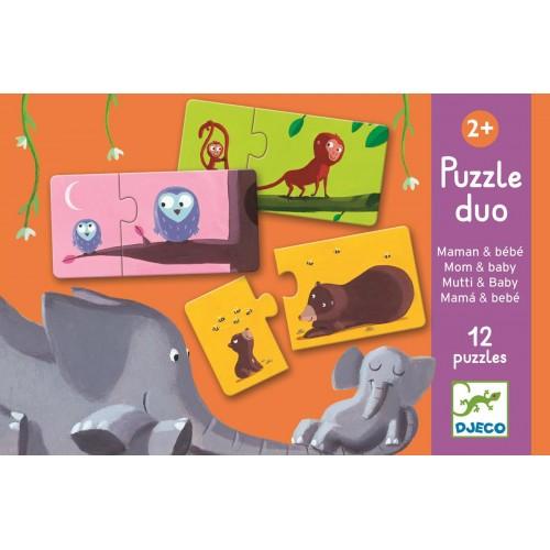 Puzzle dwuelementowe Mama i...