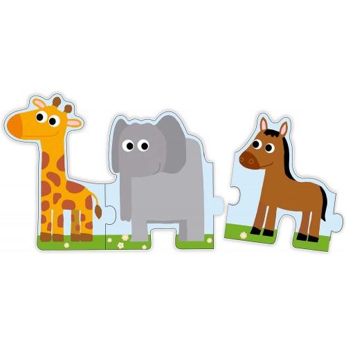 Puzzle podłogowe Zwierzęta...