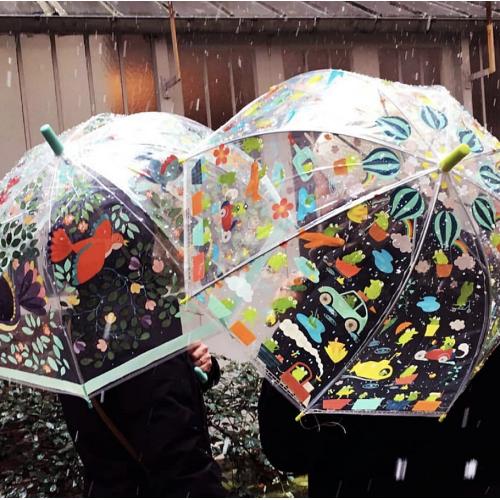 Parasol transparentny...