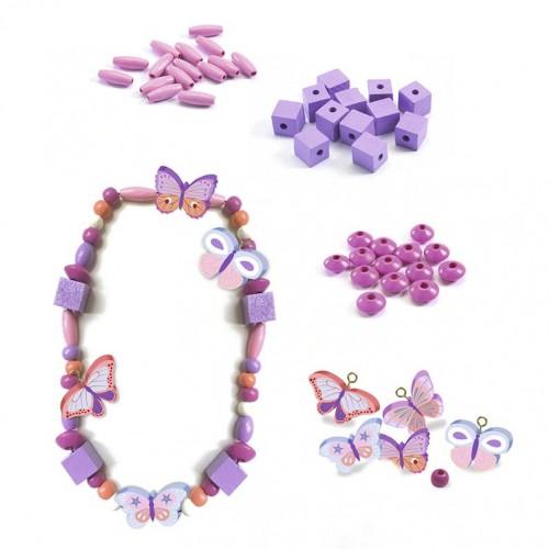 Drewniana Biżuteria Motyle...