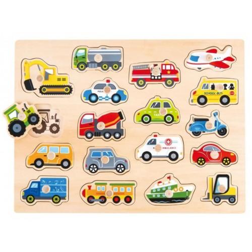 Puzzle z uchwytami Pojazdy...