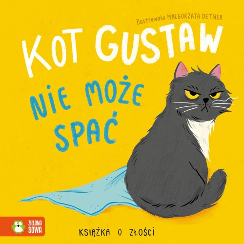 Kot Gustaw nie może spać....