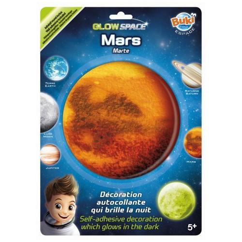 Planeta Mars świecąca w...