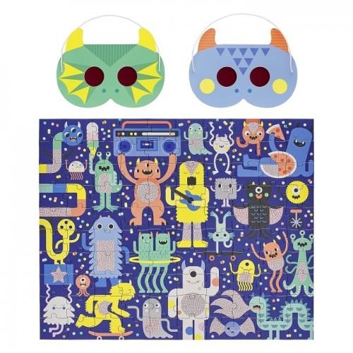 Puzzle z Okularami Ukryte...