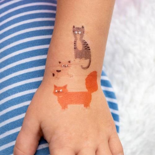 Tatuaże Dziecięce Koty -...
