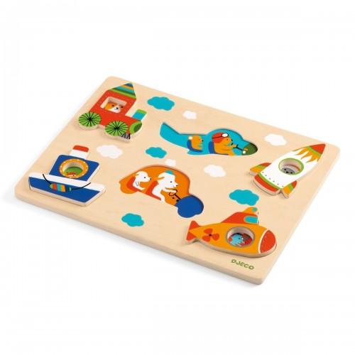Drewniane puzzle Pojazdy -...