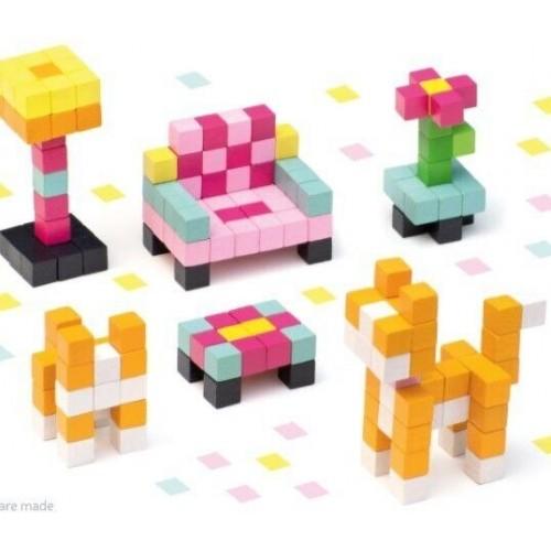 Drewniana układanka Pixele...