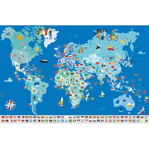 Wyklejanka Mapa Świata -...