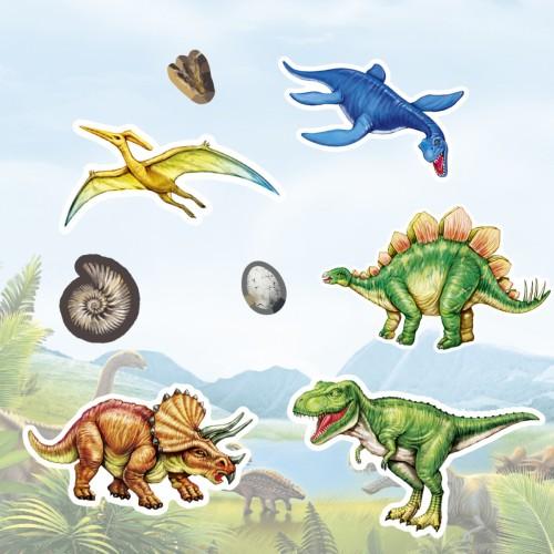 Wypukłe Naklejki Dinozaury...