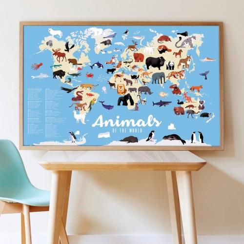 Wyklejanka Mapa Zwierzęta...