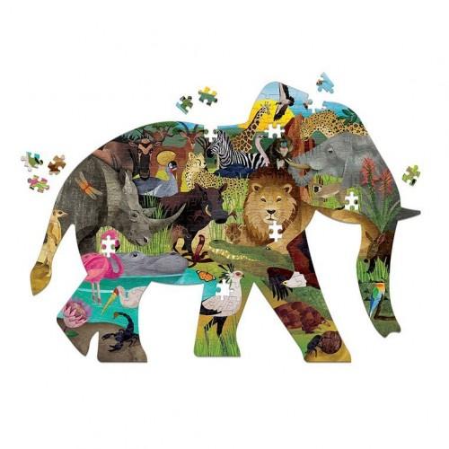 Puzzle kształty Słoń Safari...
