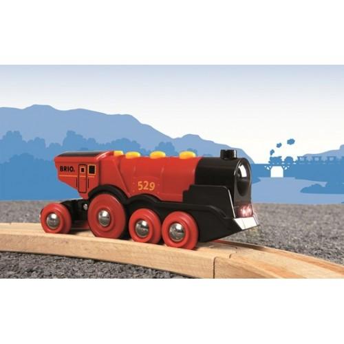 Czerwona lokomotywa na...