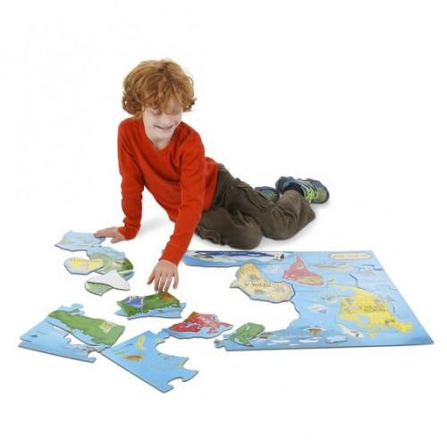 Puzzle Podłogowe Mapa...