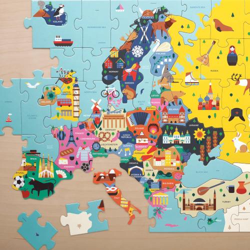 Puzzle Mapa Europy Państwa...
