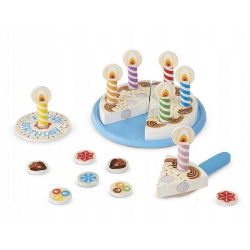 Drewniany tort urodzinowy...