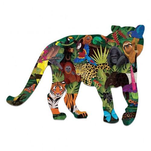 Puzzle kształty Tygrys Las...