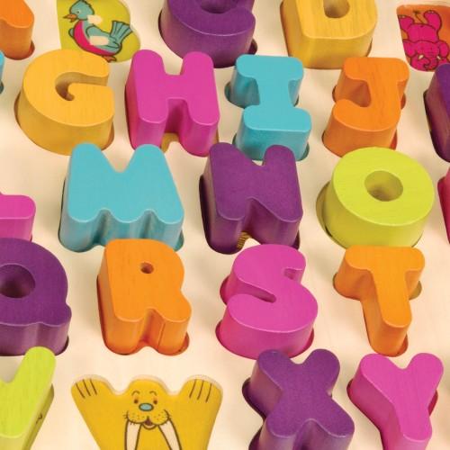 Alfabet Litery Drewniane...