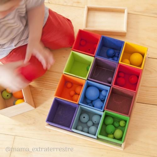 Kolorowe Drewniane pudełka...
