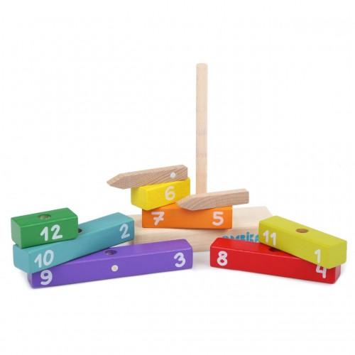 Drewniany Zegar - Cubika